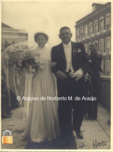 No casamento de sua filha Ernestina em 16 de Abril de 1938