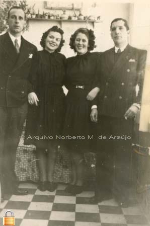 Os filhos de Norberto de Araújo - Marius e Tina com os respectivos cônjuges