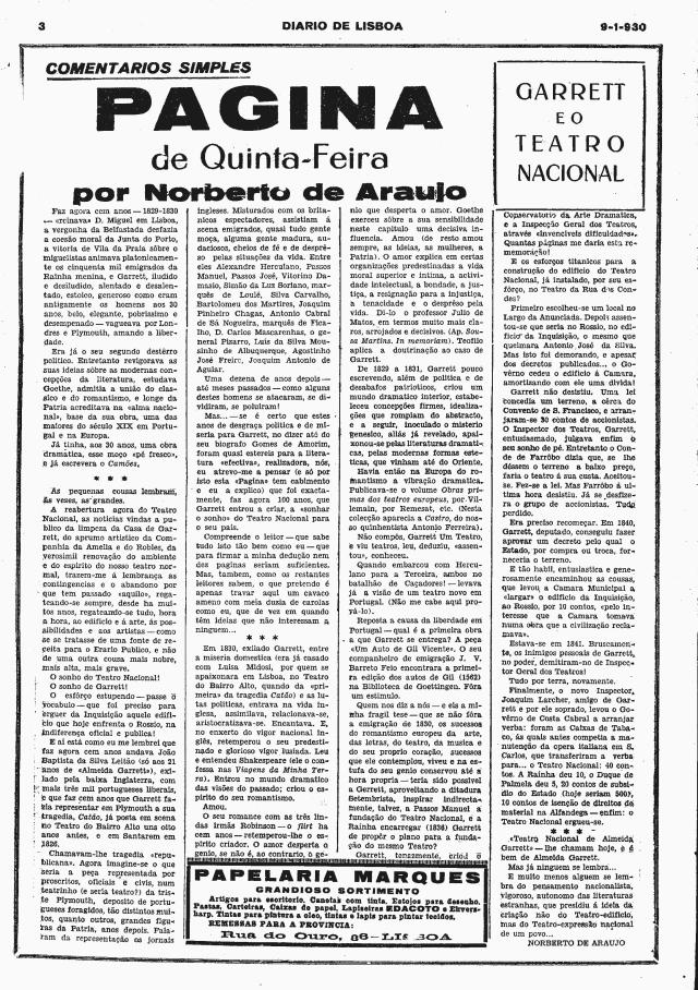 9 de Janeiro de 1930